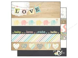 Simple Stories Paper 12x12 Hello Baby Border&Title (25 piece)