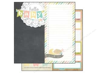 Simple Stories Paper 12x12 Hello Baby Page Element (25 piece)