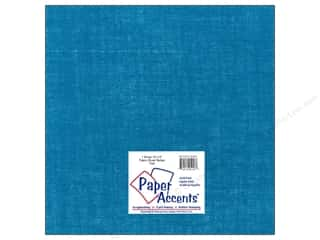 Paper Accents Blue: Fabric Sheet 12 x 12 in. by Paper Accents Burlap Teal
