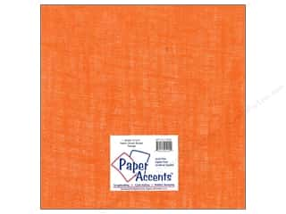 New: Paper Accents Fabric Sheet 12x12 Burlap Orange