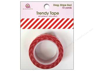 Queen&Co Trendy Tape 10yd Diagonal Stripe Red