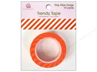 Queen&Co Trendy Tape 10yd Diagonal Stripe Orange