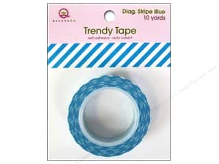 Queen&Co Trendy Tape 10yd Diagonal Stripe Blue