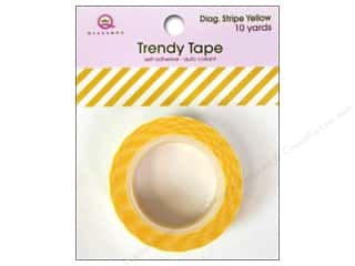 Queen&Co Trendy Tape 10yd Diagonal Stripe Yellow