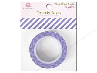 Queen&Co Trendy Tape 10yd Diagonal Stripe Purple
