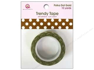 Queen&Co Trendy Tape 10yd Polka Dot Gold