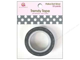 Queen&Co Trendy Tape 10yd Polka Dot Silver