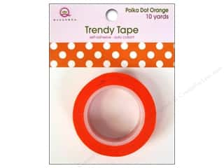 Queen&Co Trendy Tape 10yd Polka Dot Orange