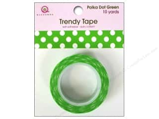 Queen&Co Trendy Tape 10yd Polka Dot Green