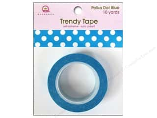 Queen&Co Trendy Tape 10yd Polka Dot Blue