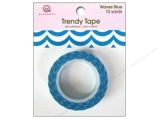 Glues, Adhesives & Tapes Blue: Queen&Co Trendy Tape 10yd Waves Blue