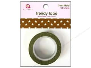 Queen&Co Trendy Tape 10yd Stars Gold