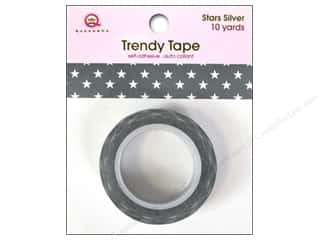 Queen&Co Trendy Tape 10yd Stars Silver