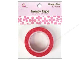 Queen & Company Glue and Adhesives: Queen&Co Trendy Tape 10yd Flowers Pink