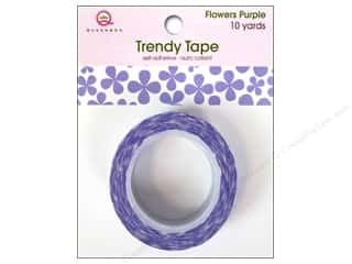 Queen&Co Trendy Tape 10yd Flowers Purple