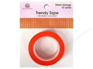 Queen&Co Trendy Tape 10yd Mesh Orange
