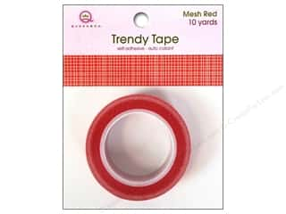 Queen&Co Trendy Tape 10yd Mesh Red