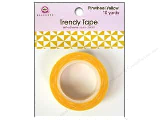 Queen&Co Trendy Tape 10yd Pinwheel Yellow