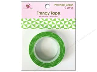 Queen&Co Trendy Tape 10yd Pinwheel Green