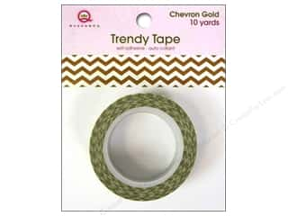 Queen&Co Trendy Tape 10yd Chevron Gold