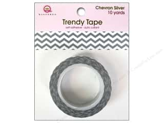 Queen&Co Trendy Tape 10yd Chevron Silver
