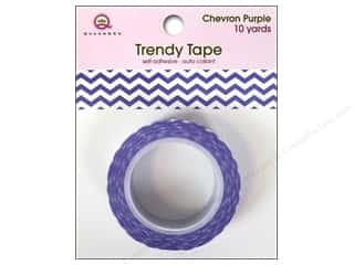 Queen&Co Trendy Tape 10yd Chevron Purple