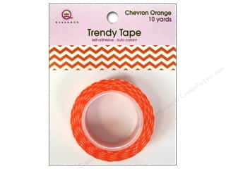 Queen & Company Glue and Adhesives: Queen&Co Trendy Tape 10yd Chevron Orange