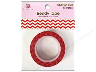 Queen&Co Trendy Tape 10yd Chevron Red