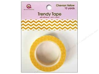 Queen&Co Trendy Tape 10yd Chevron Yellow