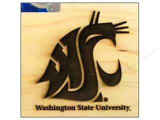 Licensed Products: ColorBox Stamp Rubber Wood Mount Washington State University