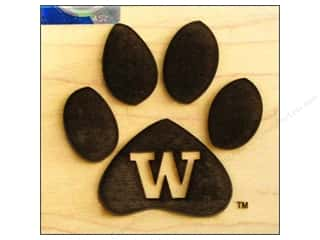 Wood Sports: ColorBox Stamp Rubber Wood Mount University of Washington