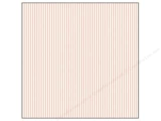 Canvas Corp Paper 12x12 Pink & Ivory Ribbon Stripe (15 piece)