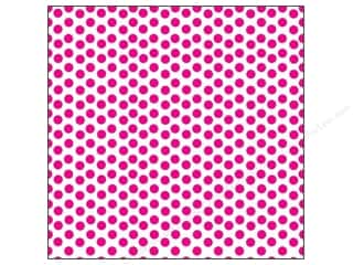 Papers Hot: Canvas Corp 12 x 12 in. Paper Hot Pink & White Dot (15 pieces)
