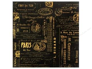 Canvas Corp Paper 12x12 Blk & Kraft Paris Reverse (15 piece)