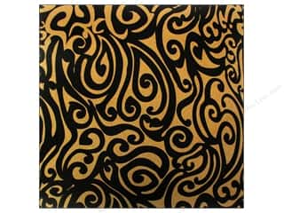Canvas Corp Paper 12x12 Blk & Kraft Swirls (15 piece)