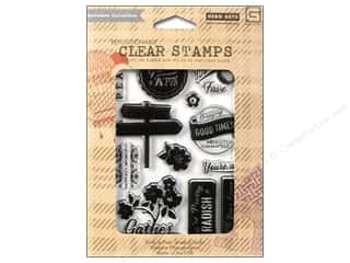 "Stamped Goods 14"": BasicGrey Clear Stamps 12 pc. Herbs & Honey Gather Love"