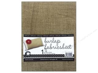 Sewing Construction Sheets: Canvas Corp Burlap Fabric Sheet 30 x 36 in.