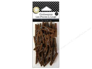 "Canvas 18"": Canvas Corp Mini Clothespins 25 pc. Jacobean"