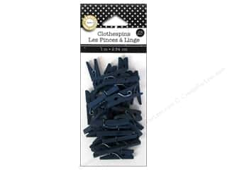 Canvas Home Basics Blue: Canvas Corp Mini Clothespins 25 pc. Navy