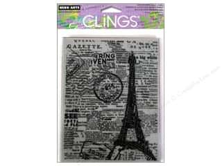 Vacations Clearance: Hero Arts Cling Stamp Background Newspaper Eiffel Tower