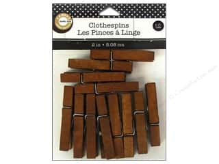 Canvas Corp Small Clothespins Jacobean 12 pc.