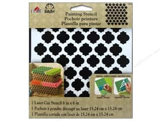 "Stencils Stencil Accessories: Plaid Stencil FolkArt Painting 6""x 6"" Casablanca"