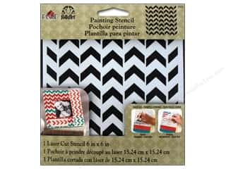 "Stenciling Craft Paint: Plaid Stencil FolkArt Painting 6""x 6"" Petite Chevron"