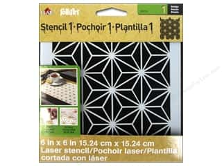 Craft & Hobbies Stencils: Plaid Stencil FolkArt Designer Star Pattern