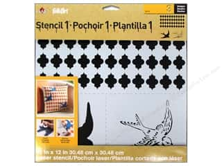 Plaid Stencil Folkart Designer Swallow Set