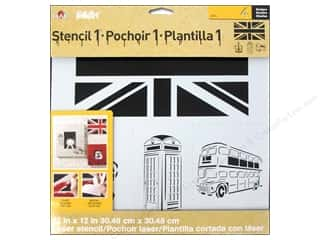 Stencils: Plaid Stencil FolkArt Designer London Set