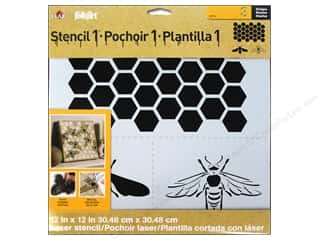 Plaid Stencil Folkart Designer Honey Bee