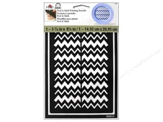 Plaid Stencil Folkart Peel&Stick Chevron Thick/Th