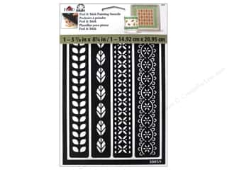 Plaid Stencil Folkart Peel & Stick Borders