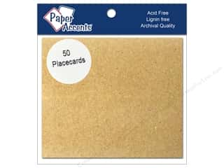 New: Paper Accents Placecards 3x3.5 50pc Brown Bag